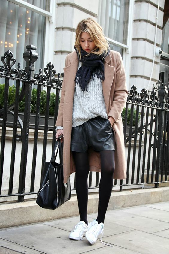 What trainers with winter tights