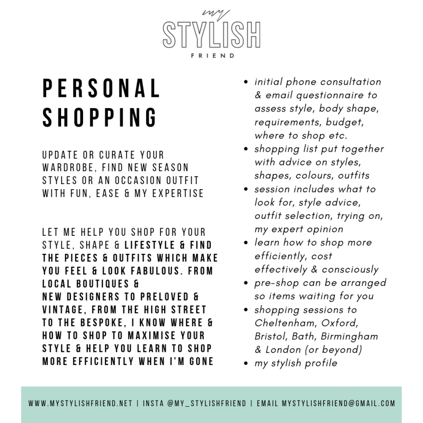 Personal shopping no prices